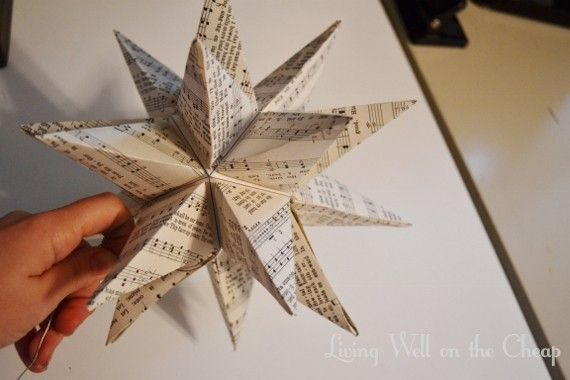 diy moravian star tree topper living well on the cheap