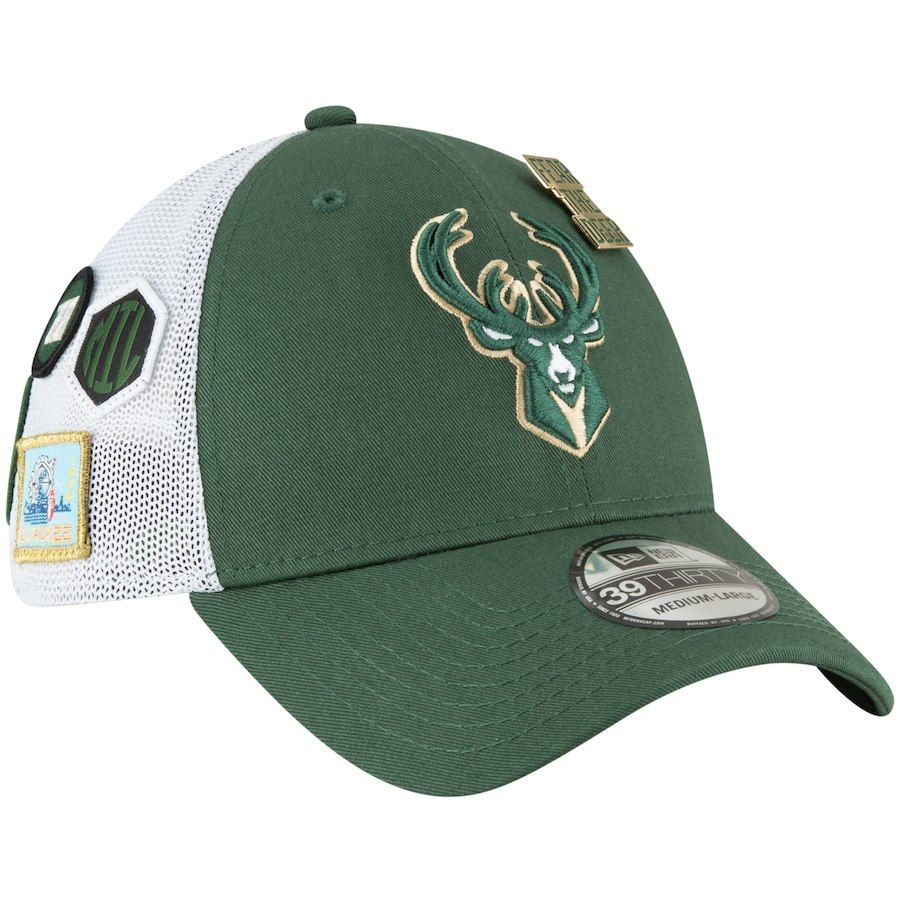on sale 40e50 18779 Men s Milwaukee Bucks New Era 2018 Green Draft 39THIRTY Fitted Hat, Your  Price   31.99