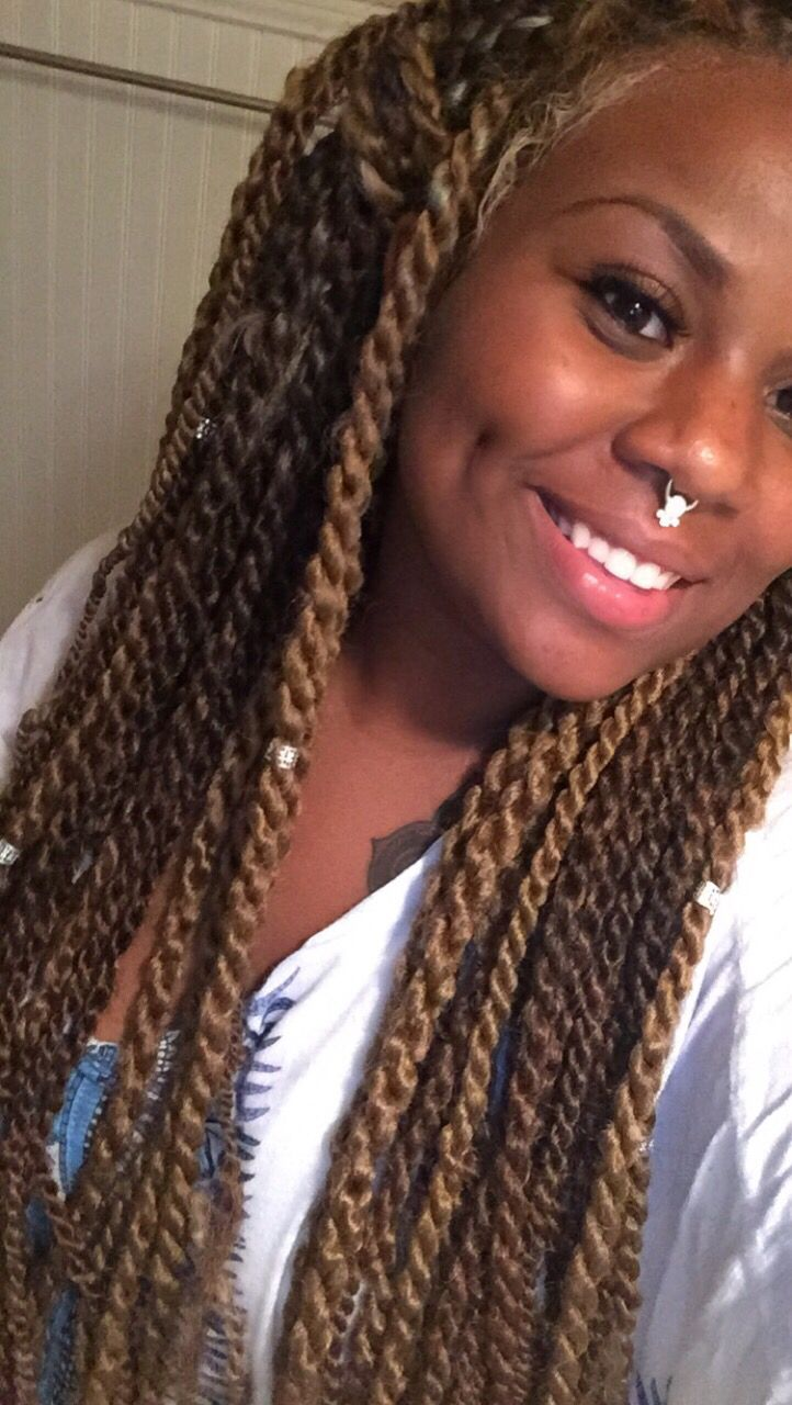 blonde light brown Marley twist | Braids/Twists ...
