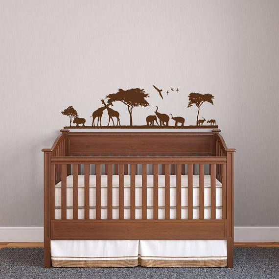 Safari African Animals Wall Decal Nursery Home Decor To Order Please Choose Size And Color From The Drop Bo When Purchasing Item Details We Use