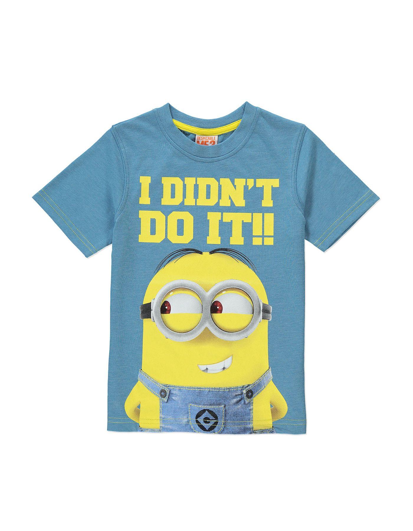 Black t shirt asda - Minion T Shirt