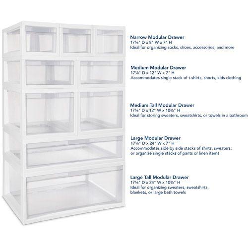 Home Plastic Storage Drawers Modular