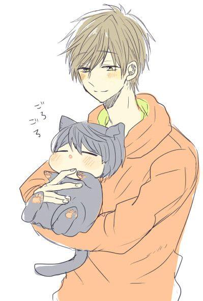 Makoto and neko Haru // Free!