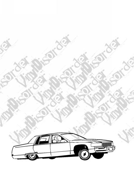 Caddy Bouncing Lowrider Decal