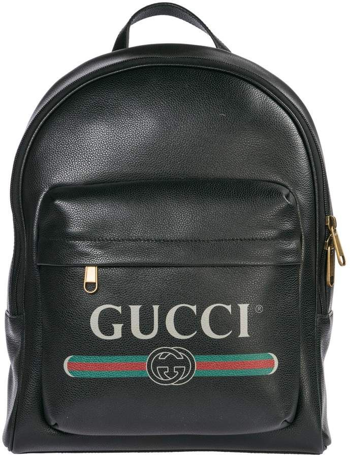 Photo of Gucci Gucci  Leather Rucksack Backpack Travel – Nero – 10902…