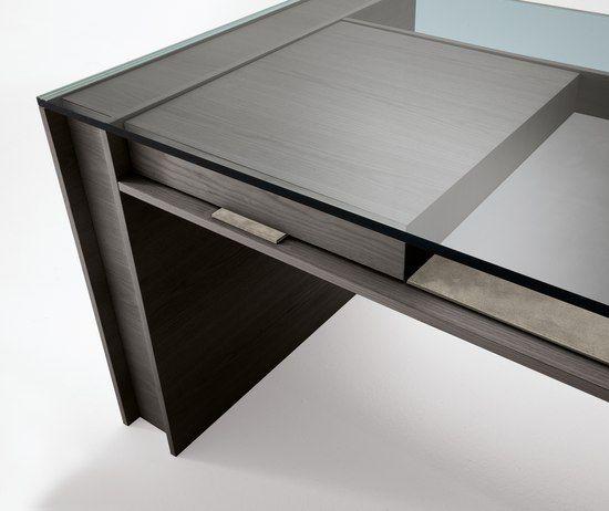 Office Desk Wood Glass Detail Mobilya Tasarim Calisma Masalari
