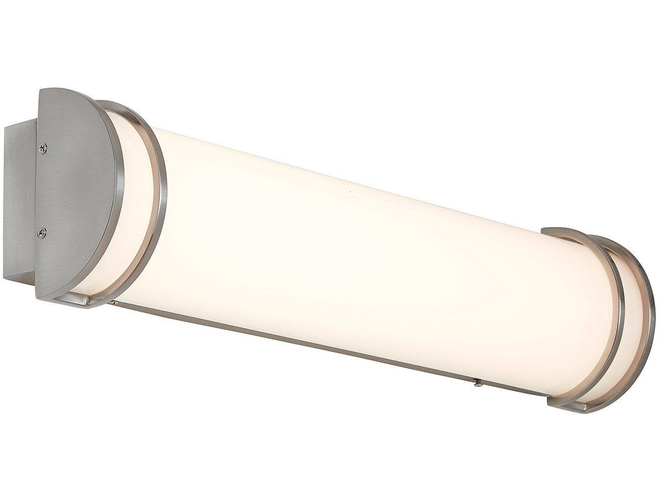 New flush mount brushed nickel modern frosted bathroom vanity light