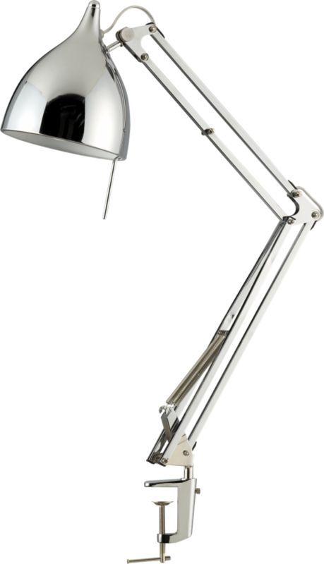 carpenter chrome lamp in table lamps - Carpenter Chrome Lamp CB2 INSPIRATION: Furnishings Pinterest