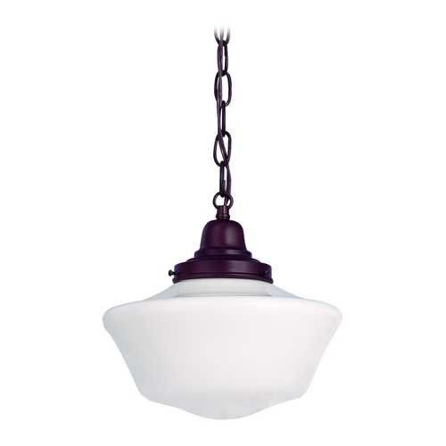 10 Inch Schoolhouse Mini Pendant Light With Chain In Bronze Finish Design Classics Lighting Http Www Amazon Co
