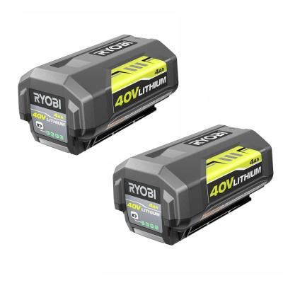 If you have a large yard or need extra run time, the RYOBI 40-Volt 4.0 Ah high capacity battery is the perfect addition to your RYOBI 40-Volt collection. This 4.0 Ah battery lasts 2X longer than the standard RYOBI 40-Volt high capacity battery while delivering the same fade-free power and performance. All RYOBI 40-Volt batteries come with an on-board battery life indicator for user convenience and over-molded edges for impact protection. This battery works with all RYOBI 40-Volt tools and charge