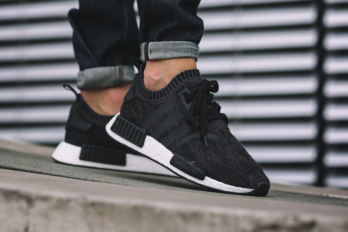adidas NMD R1 PK *Winter Wool* (Core Black Core Black Ftwr White)