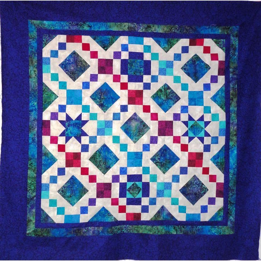 Beautiful quilt designed to showcase Quilter's Quest batik fabric ... : beautiful quilt fabrics - Adamdwight.com
