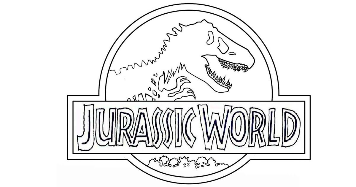 Jurassic World Logo Coloring Pages To Printable Jurassic World W Is For World Coloring Page Coloring Dinosaur Coloring Pages Jurassic Park Logo Jurassic Park