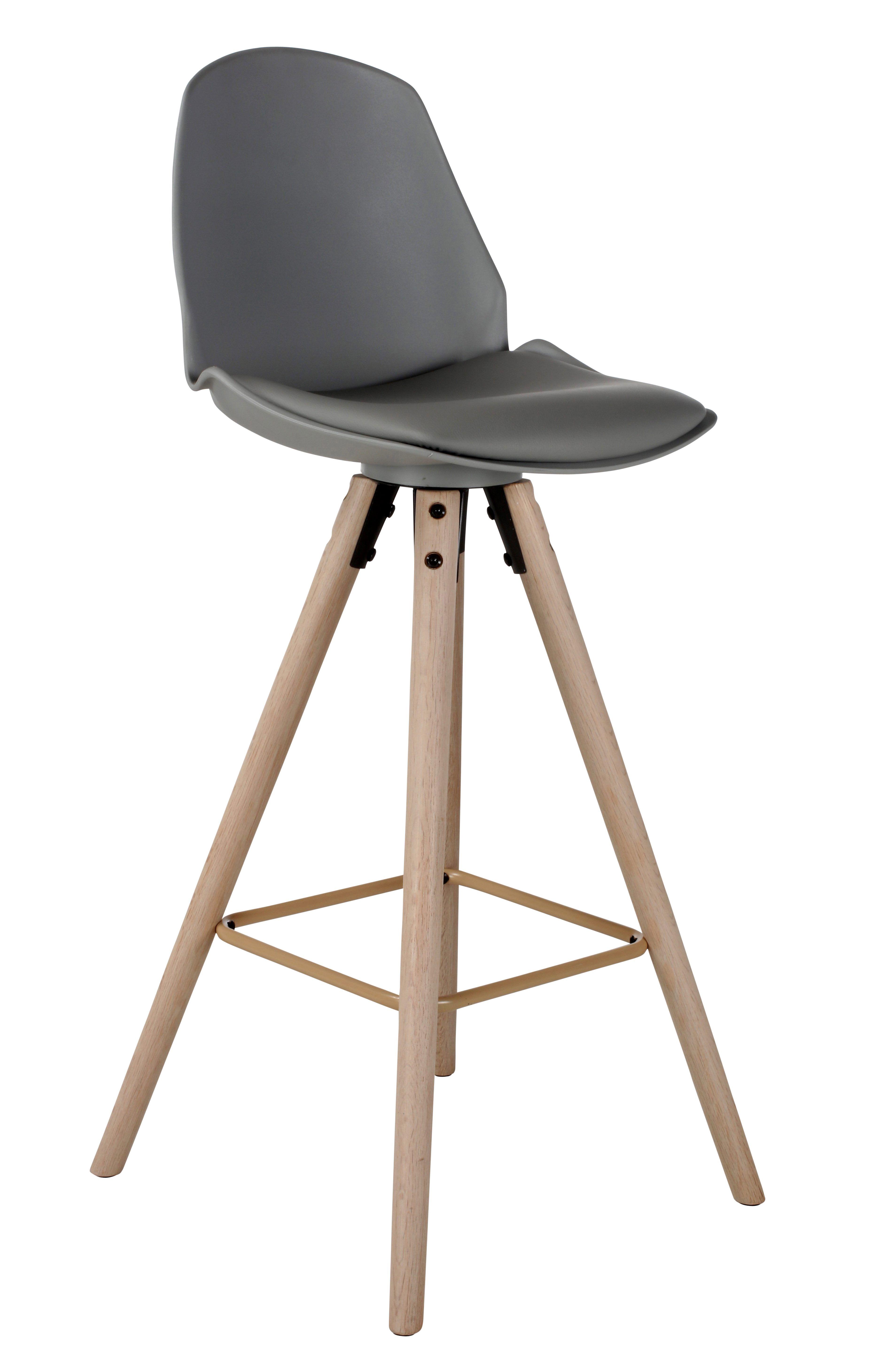 tabouret de bar h 77 cm oslo gris tabouret de bar tabouret chaise de bar scandinave