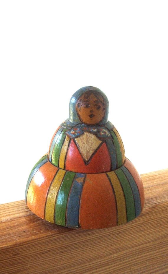 Antique Polish Dolls | Antique Wooden Polish Folk Art Doll Inkwell by lookonmytreasures