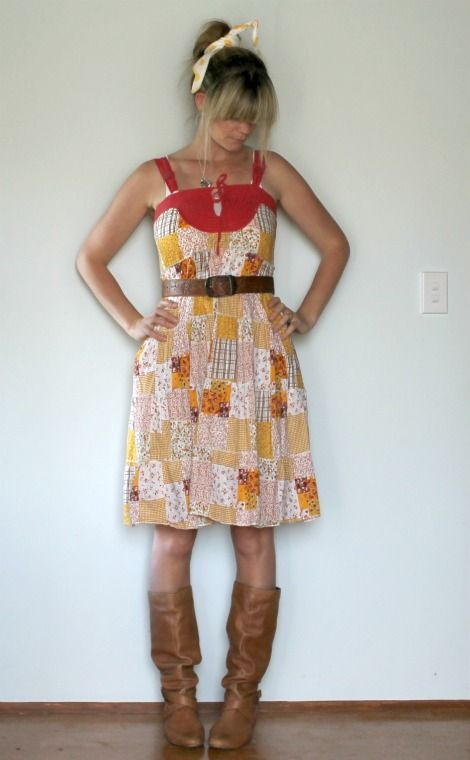 dee*construction: {restyle} combo dress