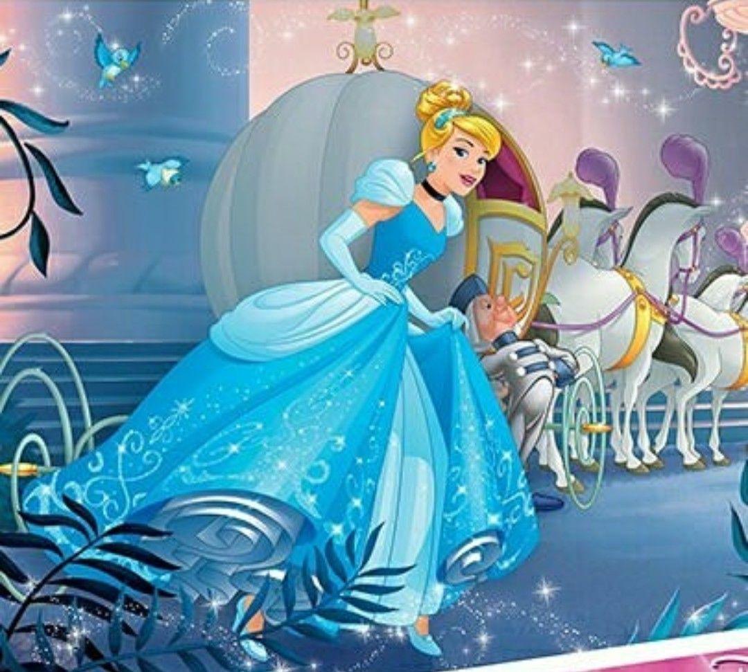 Cinderella And Her Pumpkin Carriage With Horses To The Castle Disney Princess Cinderella Disney Cuties Disney Art