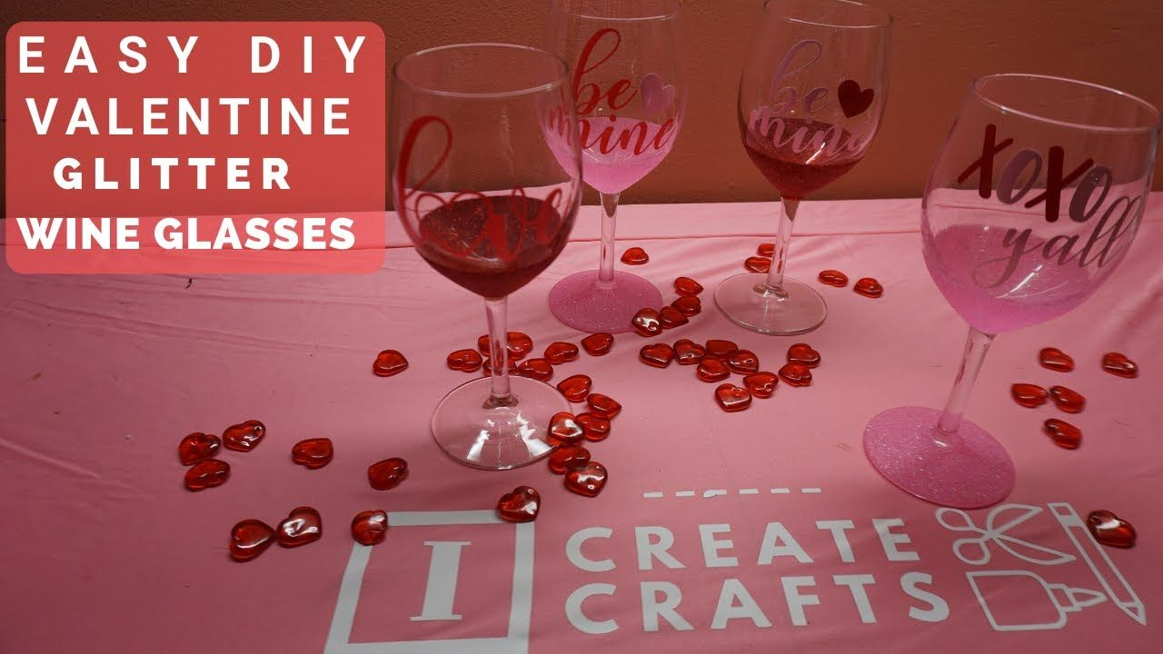 How To Make Glitter Wine Glasses With Cricut Vinyl Decals And Mod Podge In 2020 Glitter Wine Glasses How To Make Glitter Glitter Wine