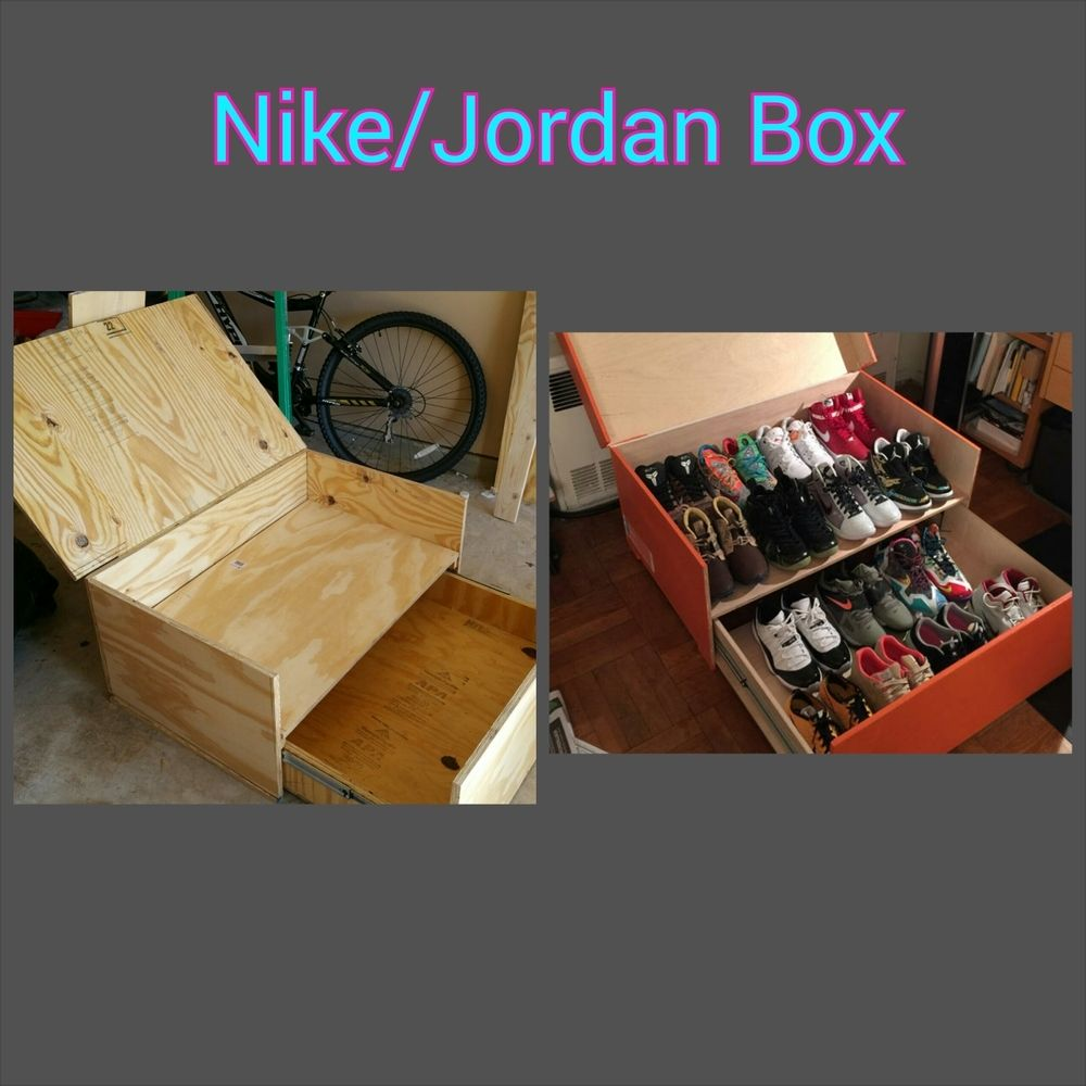 18d97b72c38ed0 Custom Nike Jordan Shoe Box made to store your shoes in style. This ...