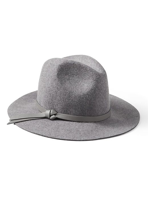 Banana Republic Womens Fedora Felt Hat Heather Gray f311a83b4795