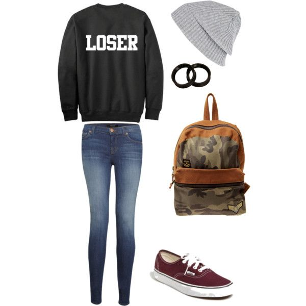 Pop-punk outfit. Loser, my favorite term of endearment. - Tights Vans And Ripped Tee Shirt Cute Clothes~* Pinterest