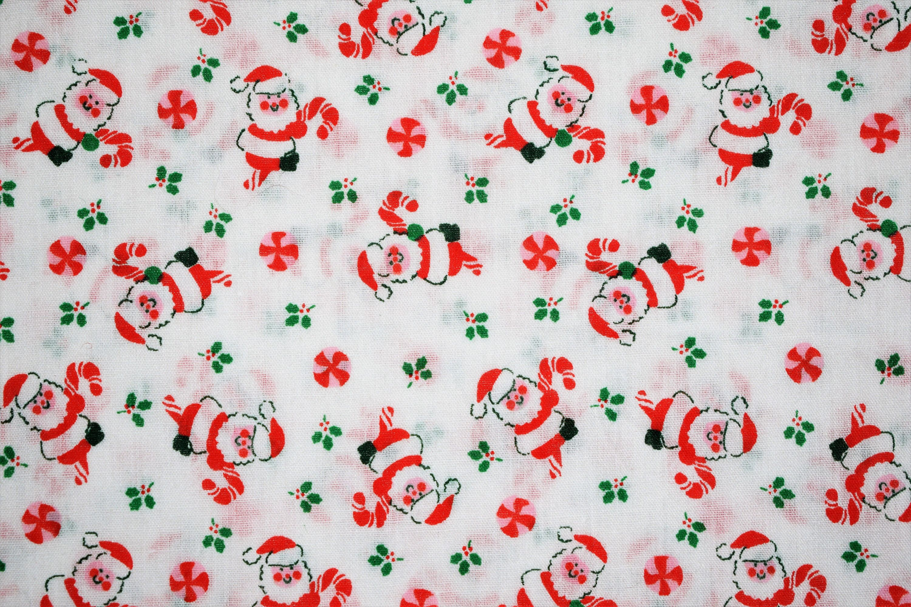 Cute Christmas Quilting Fabric Santa Quilting Fabric Vintage