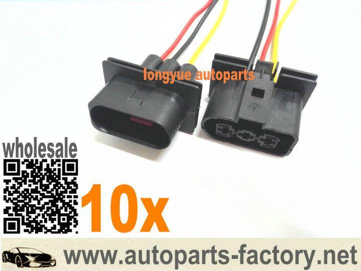 longyue 10pcs Radiator Fan Connector Plugs w/ Wiring 1J0
