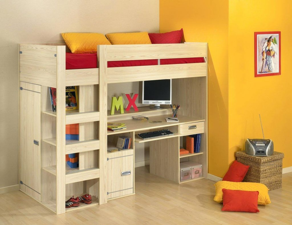 Bunk Beds Half Bunk Bed With Desk Under It Queen Size Beds Full
