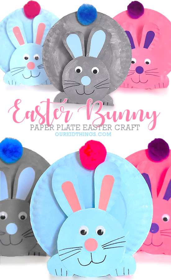 Paper Plate Easter Bunny Craft   Our Kid Things