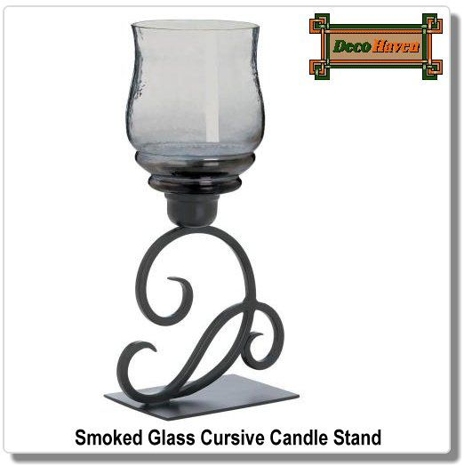 6 Pc Lot Dominion Teal Glass Candle Holder Iron Tealight Votive Lamp Centerpiece
