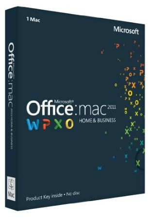 Office Mac Home  Business 2011 Key Card (1PC/1User) by Microsoft