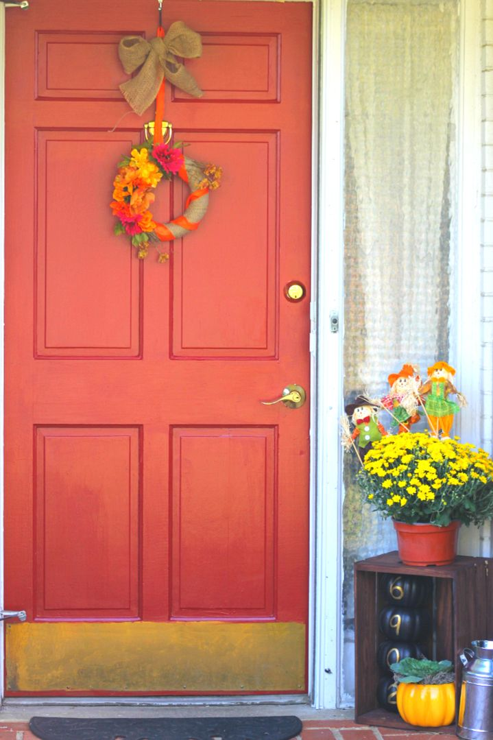 Cupcake Wishes u0026 Birthday Dreams Fall Front Door Project | Modern Masters non-fade & Cupcake Wishes u0026 Birthday Dreams: Fall Front Door Project | Modern ... pezcame.com