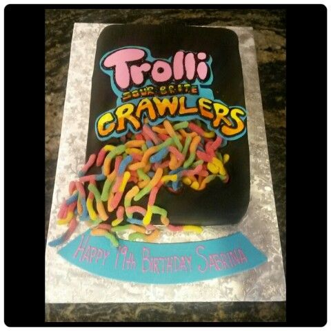Sour Gummy Worm Cake Worm Cake Sour Gummy Worms Cake