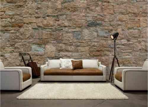 papier peint imitation pierre d coration murale. Black Bedroom Furniture Sets. Home Design Ideas