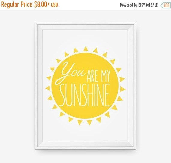 You are my sunshine, Nursery room decor, Children Wall Art, Custom ...