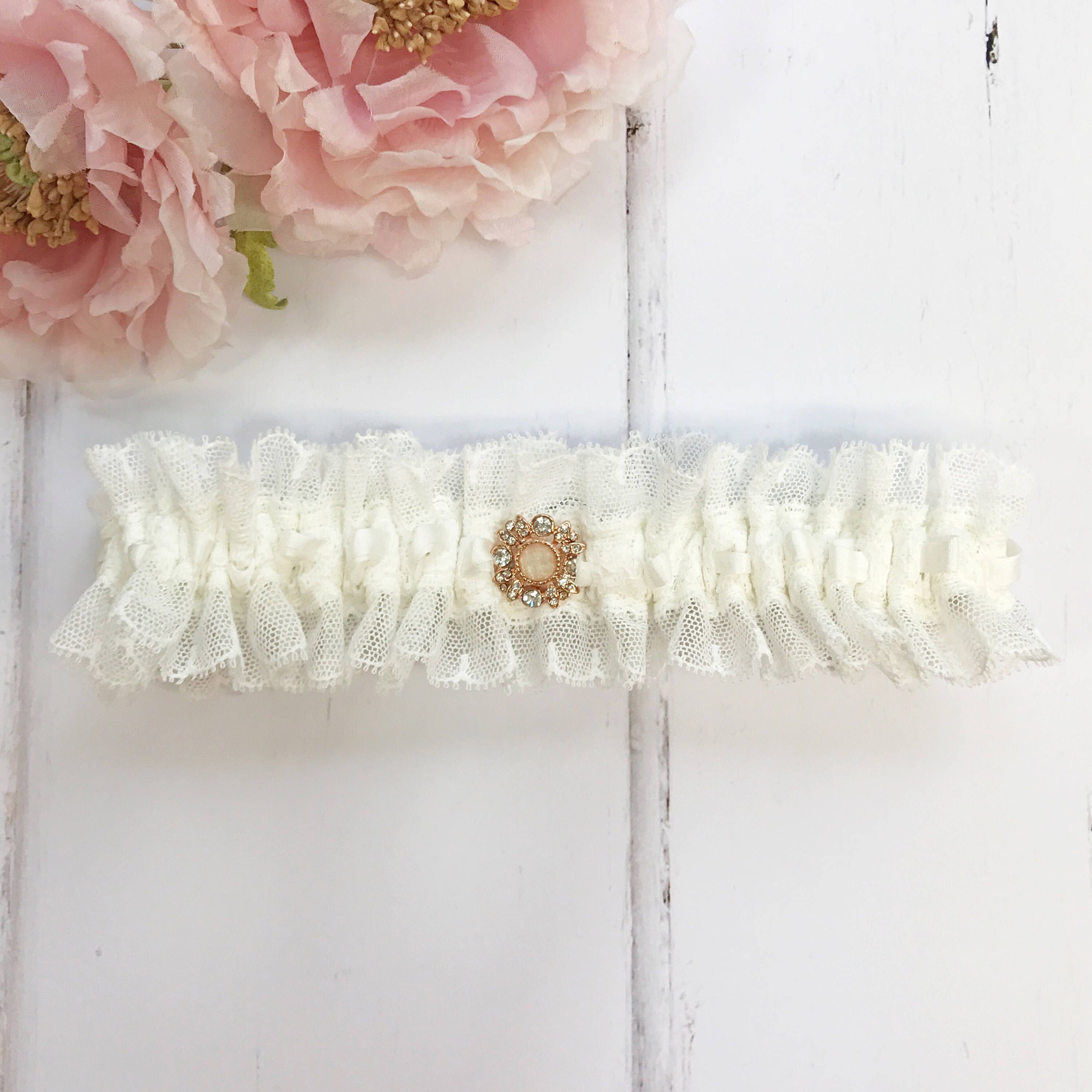 afca0544e3fe Lace Garter · Ivory Silk · A personal favourite from my Etsy shop  https   www.etsy.com
