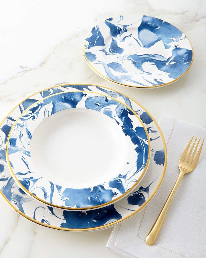 4de80a8b4cbd 12-Piece Blue Marble Dinnerware Service   Products   Blue dinnerware ...