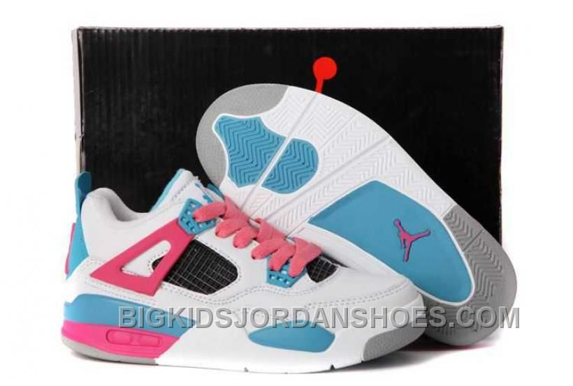 http   www.bigkidsjordanshoes.com nike-air-jordan-4-kids-white-pink ... d4f79f0e2