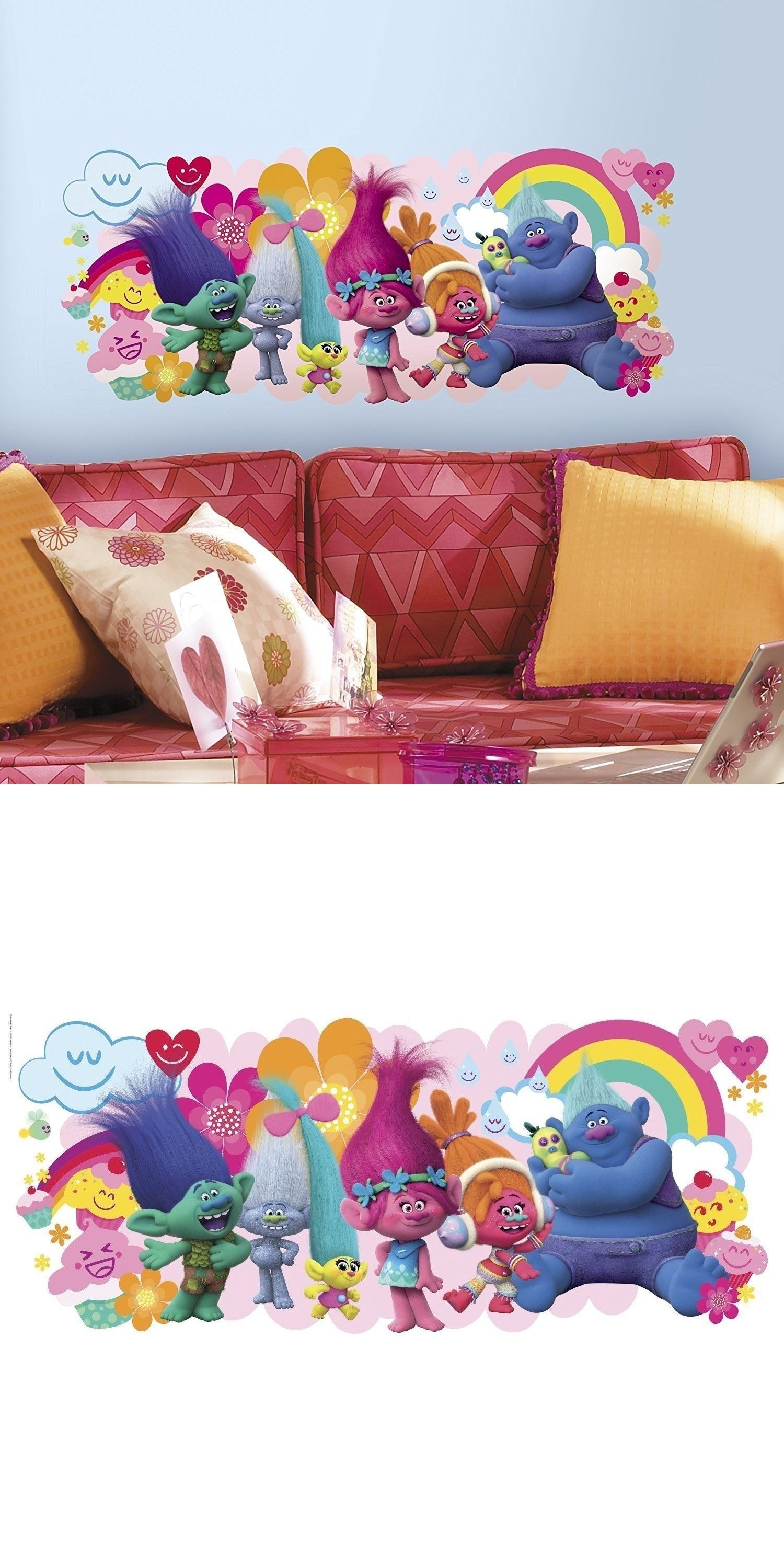 Bedroom Playroom and Dorm D cor 115970: Trolls Movie Big ...
