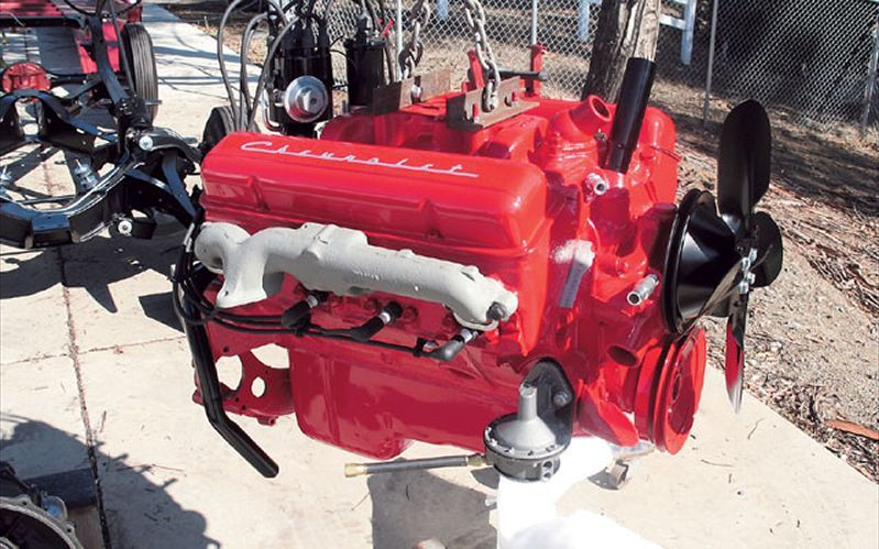 After about November 1956, all 265 engines were CHEVY ORANGE