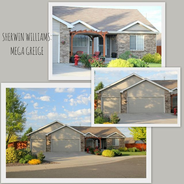 Design With Altitude: Sherwin Williams Mega Greige Exterior House Paint