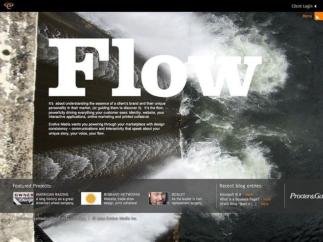 EvolveMedia - CoolHomepages Web Design Gallery