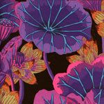LAKE BLOSSOMS  Black  GP93  Kaffe Fassett by SewColorfulQuilts