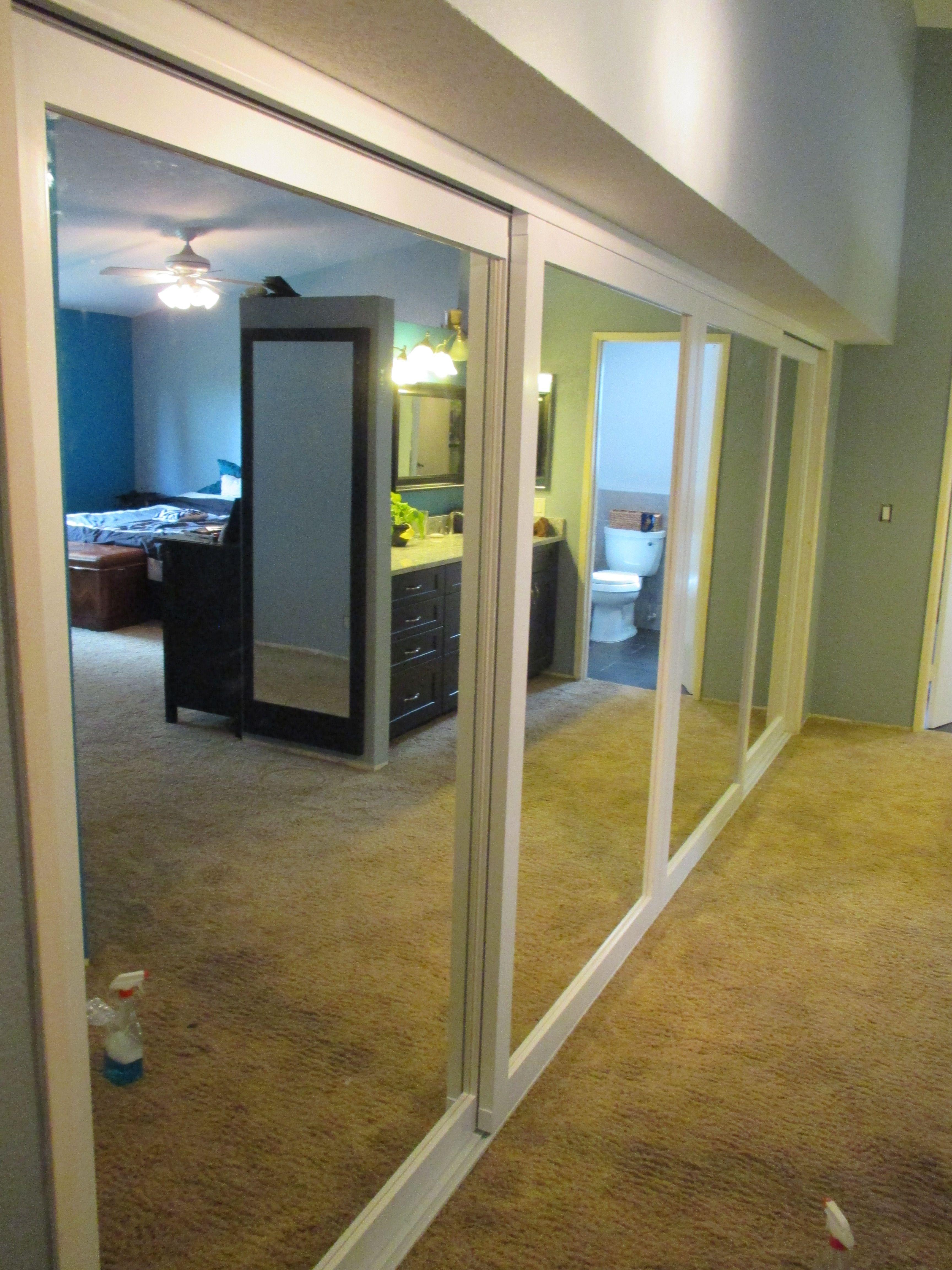 4 Panel 4 Track Wood Frame Sliding Bottom Roller Closet Doors