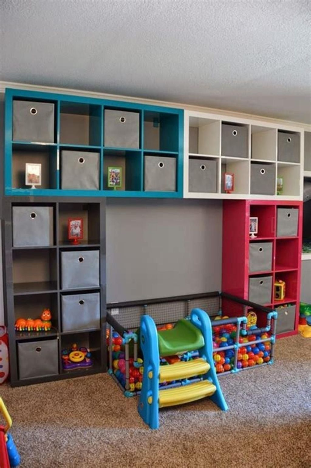 Enchanting Kids Play Room Design Ideas On A Budget 21 Ikea Kids Playroom Playroom Toy Rooms