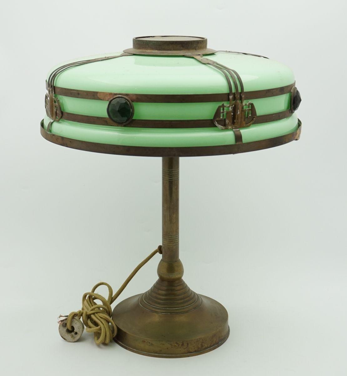 Lamps Antiques Antique Brass Desk Lamp Art Deco Style For Bedroom Decor