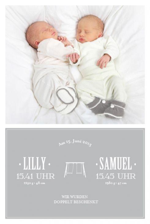 Geburtskarte Schaukel Zwillinge 5 Fotos By Tomoë Für