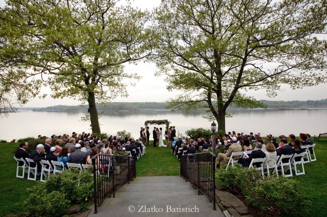 Ceremony by the long island sound at wainwright house hudson hudson valley wedding from robin roemer photography junglespirit Choice Image