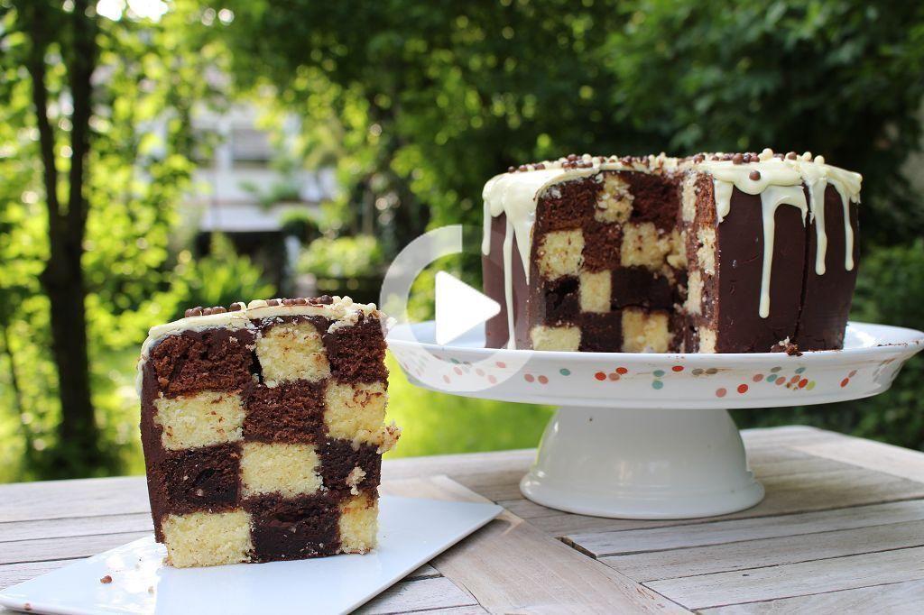 Schachbrett Muster Im Kuchen In 2020 Schachbrettkuchen Susse Desserts Kuchen