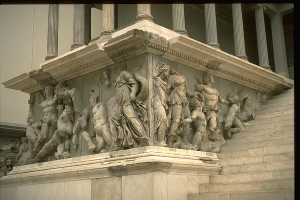 Pergamon Altar Of Zeus Western Front Frieze Showing The Battle Of Gods And Giants